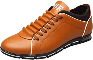 b1e6e53d5dd3fa Alaso Mocassins Chaussures de Ville Classique Homme Cuir Sneakers Basses  Casual Cuir Confortable Mode Baskets Plates