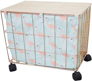 ZHPBHD Boîte de Rangement Domestique, Panier de Rangement de vêtements, avec Design de Roues, Grande capacité 42x33x35cm B...