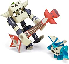 PIPEROID Guyzer & Bean Paper Craft Robot kit from Japan - Rock Star & His Only Fan
