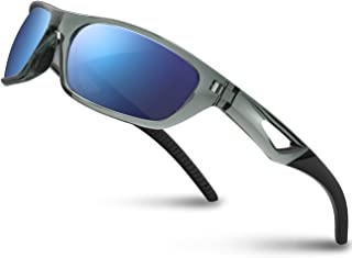 Polarized Sports Sunglasses Driving Glasses Shades for Men Women TR90 Unbreakable Frame..