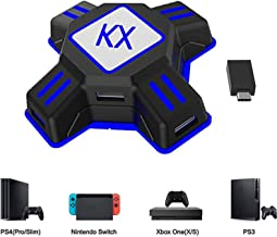 KX Mouse Keyboard Converter, Game Controller Adapter para USB 2.0 Mouse Adaptador de teclado ratón Compatible con PS4 / Xbox One / Nintendo Switch / PS3 / Xbox360 / Xbox360 Slim