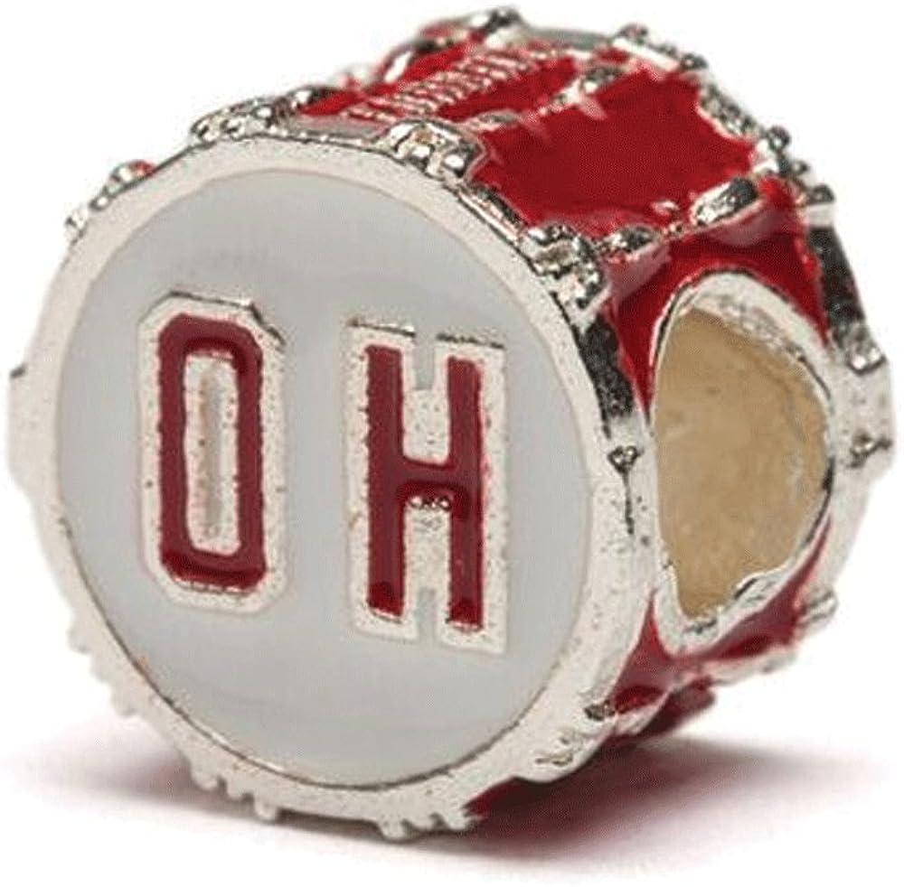 Ohio State OH Drum Charm   Ohio State Charm   Ohio State Bracelet Charm   Ohio State Jewelry   OSU Gifts