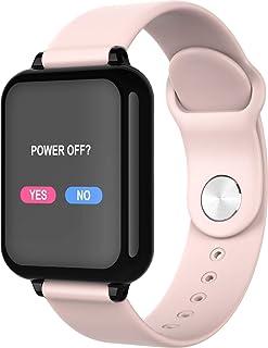 Pulsera de actividad de reloj inteligente a prueba de agua IP67, hombres y mujeres, reloj deportivo inteligente, reloj deportivo, cronómetro de monitoreo de frecuencia cardíaca(Color:B57 rosa)
