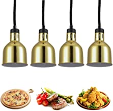 sahadsbv Réchauffeur de Nourriture à Lampe chauffante Commerciale, Lustre de Buffet avec Ampoules chauffantes Lampe d'isol...