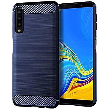Galaxy A7 ケース Samsung サムスン ギャラクシー A7 2018 カバー 【Jinmdz】 ソフトTPUシリコーン素材 耐衝撃カバー 防塵 薄型 落下防止 全面保護カバー Galaxy A7 対応 (ブルー)