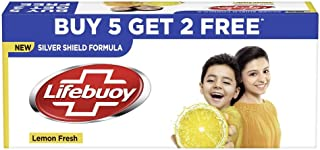 Lifebuoy Lemon Fresh Soap, 125 g (Pack of 7) with (Buy 5 Get 2 Free)