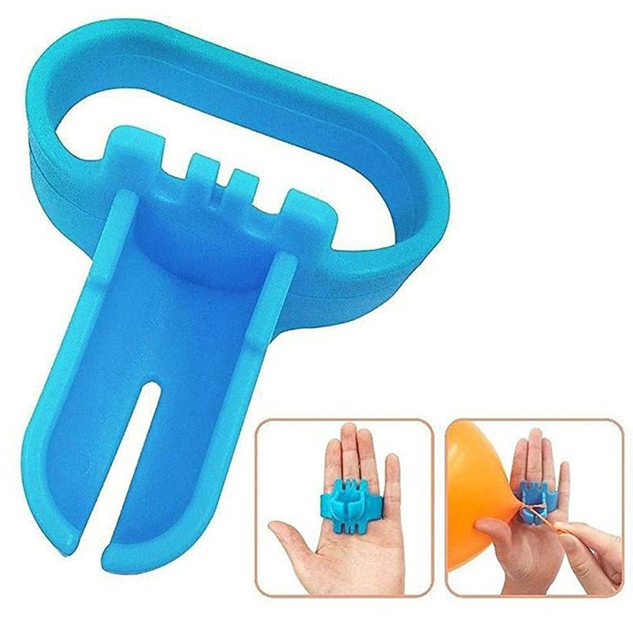Tharv?New Easy to Use Knot Tying Tool for Latex Balloons Party Supplies Balloon Tie Blue