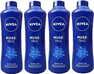 Nivea Musk Talc Skin Powder 4 Unit of 400 Grams Each (4 x 400 g)