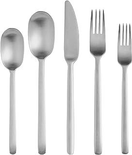 Sponsored Ad - Matte Silverware Set, 20-Piece Stainless Steel Modern Flatware Set, Cutlery Tableware Set Service for 4, In...