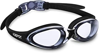 AdePoy Swim Goggles, No Leaking Anti Fog UV Protection Swimming Goggles for Men Women Adult Youth Kids (Over 6 Years Old) with Free Protection Case