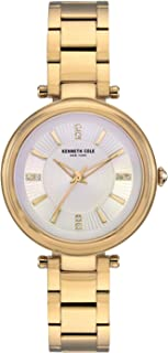 Kenneth Cole Women's Classic Link Crystal KC50961002 Gold Stainless-Steel Quartz Dress Watch