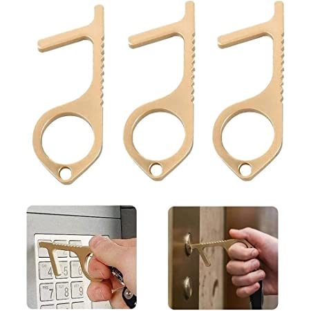 Sportsvoutdoors Multifunctional Non-Contact Hand Stick for Press Elevator Button and Door Handles Portable /& Easy to Carry Keep Hands Clean Handheld No-Touch Door Opener Stylus Keychain Tool