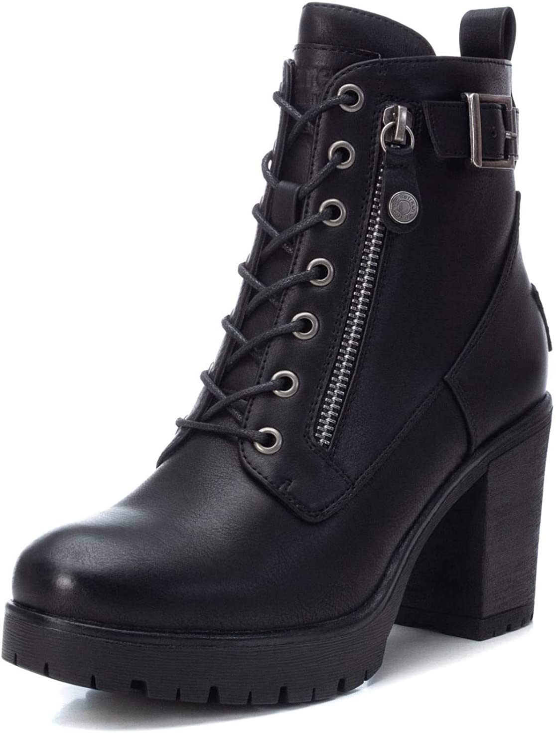 REFRESH Women's Large discharge sale 72387 Ankle Boot Nippon regular agency 8 Black