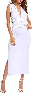Women's Convertible Wrap Multi Way Long Maxi Side Split Cocktail Dress