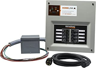 Generac 6853 Home Link Upgradeable 30 Amp Transfer Switch Kit with 10' Cord and Resin Power Inlet Box