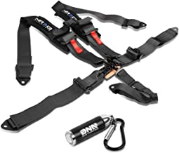 NRG Innovations SBH-R5PCBK SFI Approved 5-Point Latch & Link Buckle Seat Belt Harness + LED Keychain Flashlight