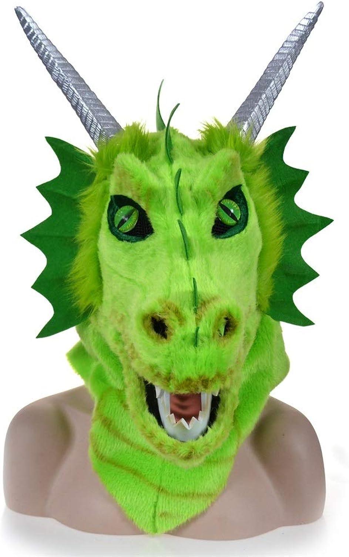 tienda en linea Be82aene MásCochea móvil de la Cabeza del Animal Animal Animal de la Piel del dragón verde de la Boca móvil CREA para requisitos particulares MásCochea Animal Goma (Color   verde, Talla   25  25)  100% autentico