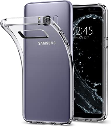 Spigen® Liquid Crystal, Kompatibel mit Samsung Galaxy S8 Hülle, Silikon Transparent Schutzhülle für Samsung Galaxy S8 Case Crystal Clear (565CS21612)