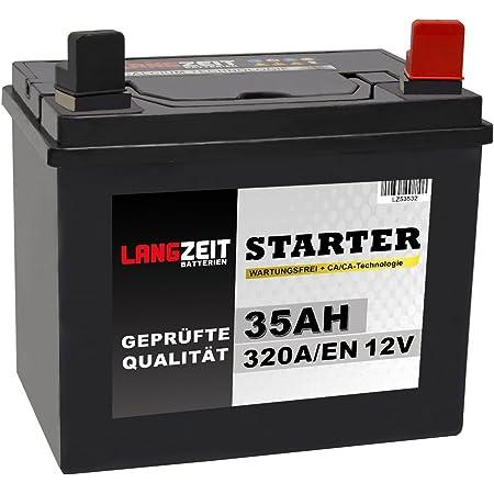 passend Herkules HT 122-24K Rasentraktor + Pol Rechts Batterie 12V 22Ah