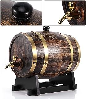 LZKW Brandy Barrel, Tonneau de vin étanche 3L Conteneur de vin de Baril de vin avec Robinet pour café pour Restaurant pour...