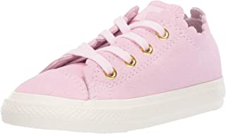 Converse Chuck Taylor All Star Ox Frilly Thrills Pink Foam Suede Baby Trainers Shoes
