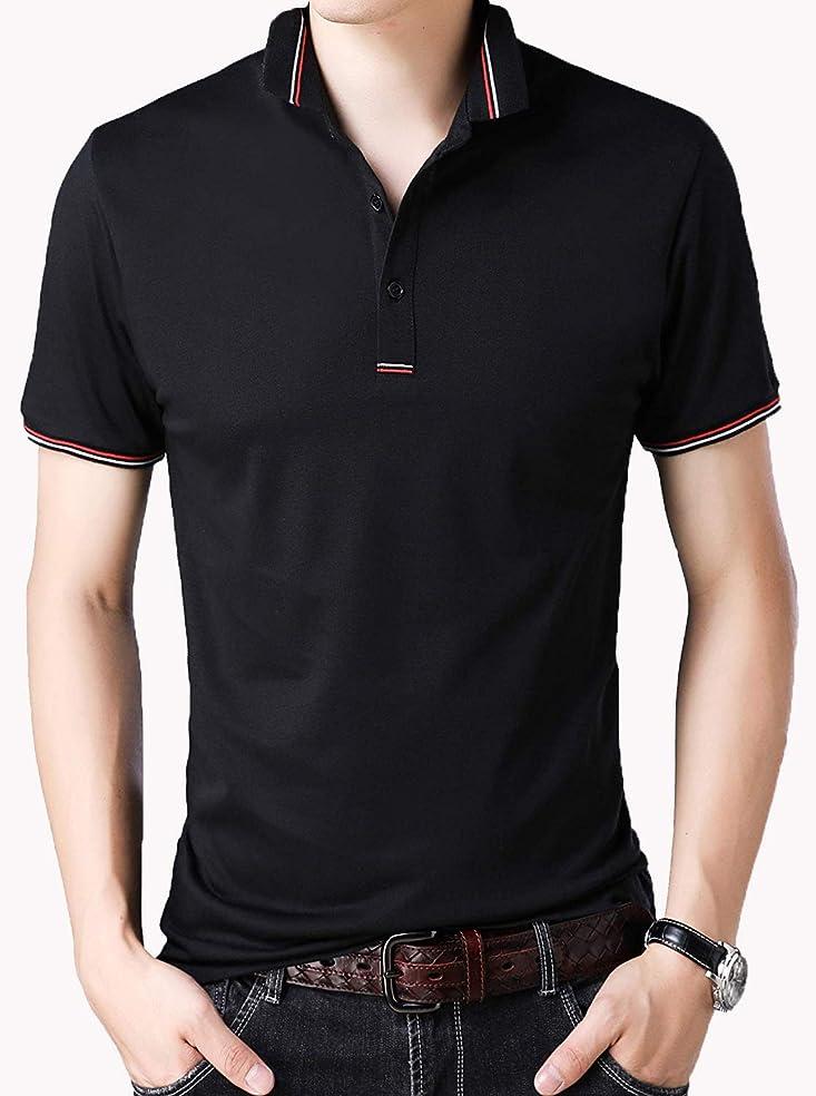 影響力のある十分です肉[ Smaids x Smile (スマイズ スマイル) ] ポロシャツ 半袖 Tシャツ ゴルフウェア ドライ 襟 ライン 無地 男性 メンズ
