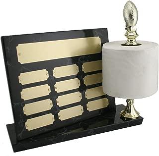 Toilet Bowl Perpetual Loser Fantasy Football Trophy Toilet Paper Last Place Award