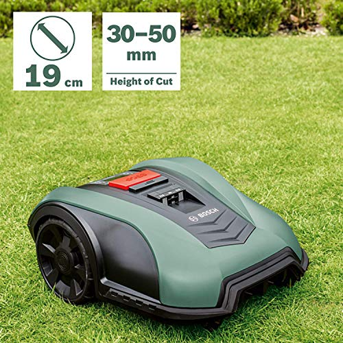 Bosch Robotic Lawnmower Indego S+ 350 (with App Function, 19 cm Cutting Width, for Lawns of Upto 350 Sq m) - Works with Amazon Alexa