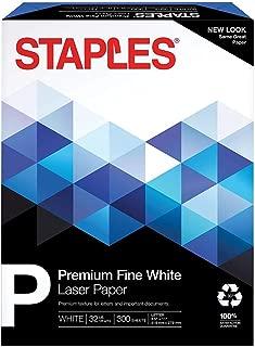 Staples 25% Cotton Fine Laser Paper, White