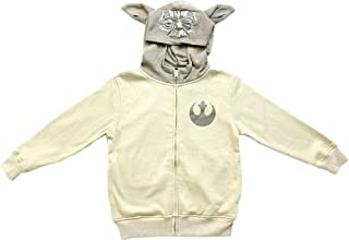 Boys Yoda Sand Zip Up Costume Hoodie Sweatshirt