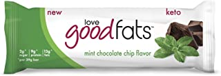 Love Good Fats Keto Friendly Snack Bars Mint Chocolate Chip (12 Bars)