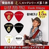 GINA AND FAGS オリジナルピック 3種類各5枚 計15枚セット 【愛曲楽器 達人ピックシリーズ第1弾!!】