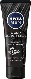 Nivea Men Deep Control reinigende Gesichtsmaske, Gesichtsreinigung für Männer gegen Unreinheiten, Reinigungsmaske 1 x 75 ml