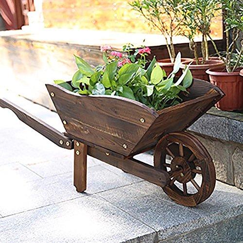RJZHJ Pastorale rurale Bois massif Flotteurs Support de fleurs personnalité patio Bonsai cadre Pot de fleurs Succulentes Cadre de l'usine Présentoir , brown , 100*40cm