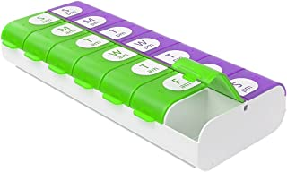 Ezy Dose Easy Fill Weekly (7-day) Pill Organizer and Planner │ Easy to Fill Pill Planner, Assorted Colors