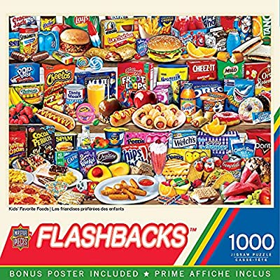 MasterPieces Flashbacks Puzzles Collection - Kids Favorite Foods 1000 Piece Jigsaw Puzzle by MasterPieces Puzzle Company