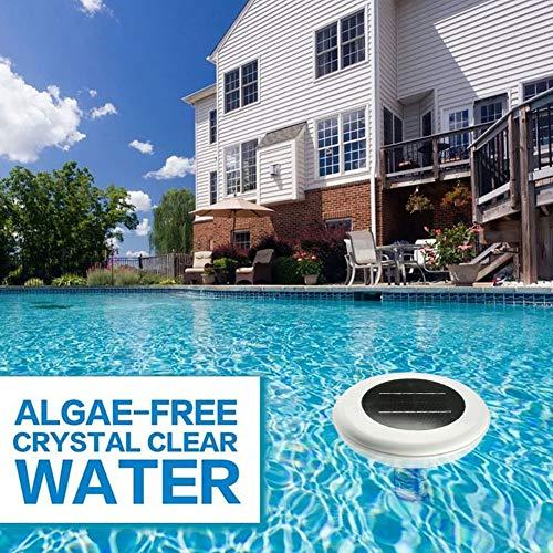 Ionizador solar para piscinas, purificador de energía solar Ionizador para piscinas de limpieza de agua Cobre Iones de cobre y plata, purificador de agua para piscinas ionizador