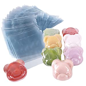 Shrink Bags 300 PCS Heat Shrink Wrap Bags 4 x 4 Inch 100 Gauge for Wrapping Soaps, Oil and Homemade Goodies (4x4)