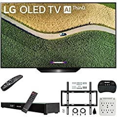 "LG AUTHORIZED DEALER - Includes Full LG USA WARRANTY LG OLED55B9PUA B9 55"" 4K HDR Smart OLED TV with AI ThinQ (2019 Model) See how convenient life can be thanks to LG ThinQ AI that listens, thinks and answers. And with the Google Assistant and Alexa,..."