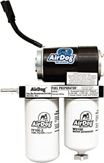 AirDog 150 Gallons Per Hour (GPH) Flow Rate For 2001-2010 Chevrolet/GM Duramax Diesel With LB7, LLY, LBZ, & LMM Engines Preset At 8psi Single Piece Pump Body - No Drilling Required