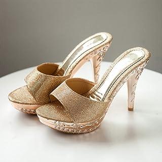 Women's Slipper one-line women's sandals super high-heeled thin heel fish mouth waterproof platform female shoes