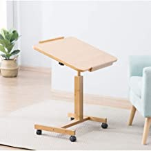 WYZXR Adjustable Bedside Laptop Desk, Removable Desk Folding Lift Lazy Table Breakfast Coffee Magazine Table Can be rotated (Size : 60 40 62/94)