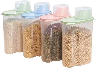 Juego de 4 recipientes de plástico para almacenamiento de