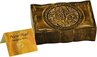 New Age Smudges and Herbs Wood Box Tree of Life 9