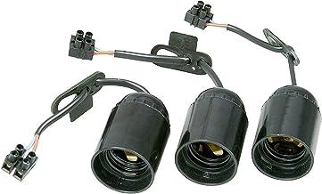 Renovier-fitting, voorgemonteerd met ca. 13 cm zichtbare kabel H03VV-F 2x0,75 mm2, kroonluchter en trekontlasting, 3 stuks...