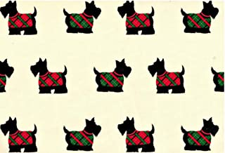 Scottish Terrier Rolled Christmas Gift Wrap Paper
