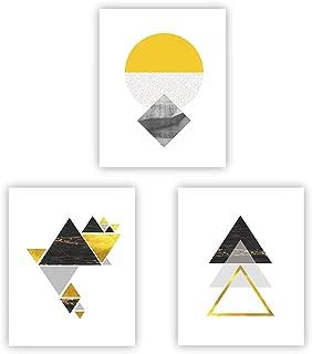 Best geometric wall art grey Reviews