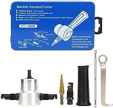 Herramienta de corte de taladro, kit de accesorio de taladro de sierra de orificio de cortador de hoja de metal de doble cabeza de 6 piezas