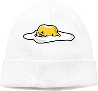 Gudetama Cable Knit Skull Caps Thick Soft & Warm Winter Beanie Hats for Women & Men Cotton Hat Unisex Cap