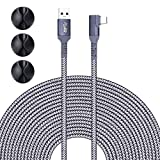 Upgraded Version 20FT Nylon Braided Link Cable for Oculus Quest 2/Quest 1 VR Headset, PC VR Link Cable, USB 3.0 Type A to C 5Gbps High Speed Data Transfer Charging Cord (20ft)